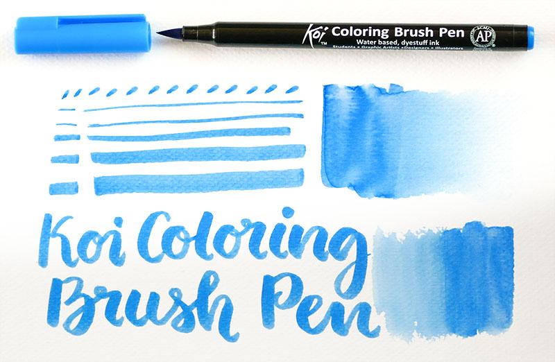 KOI Coloring Brush Pen - Light Cool Gray #153